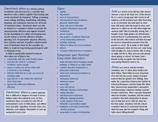 Portfolio print what is emotional abuse brochure
